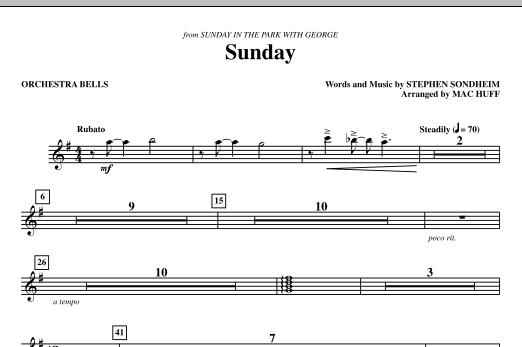 Sunday - Bells (Choir Instrumental Pak)