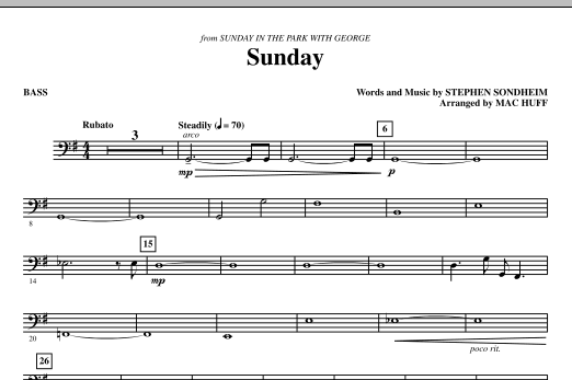 Sunday - Bass (Choir Instrumental Pak)