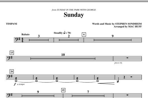 Sunday - Timpani (Choir Instrumental Pak)