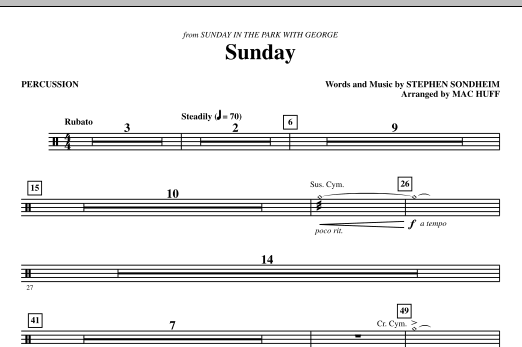 Sunday - Percussion (Choir Instrumental Pak)