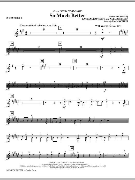 So Much Better (from Legally Blonde) - Bb Trumpet 2 (Choir Instrumental Pak)