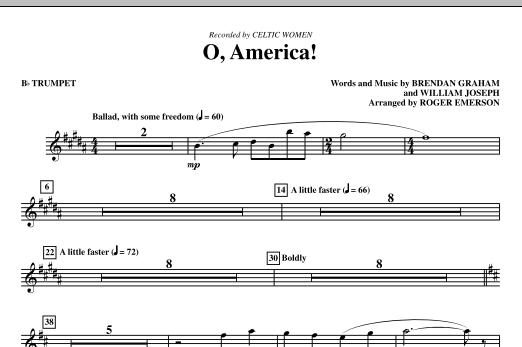 O, America - Bb Trumpet (Choir Instrumental Pak)