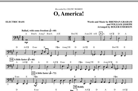 O, America - Bass (Choir Instrumental Pak)