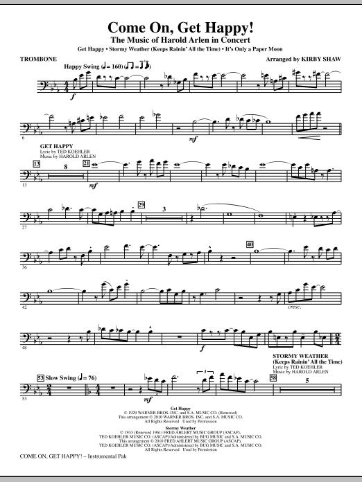 Come On, Get Happy! The Music Of Harold Arlen In Concert (Medley) - Trombone (Choir Instrumental Pak)