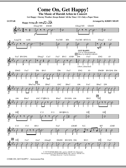 Come On, Get Happy! The Music Of Harold Arlen In Concert (Medley) - Guitar (Choir Instrumental Pak)