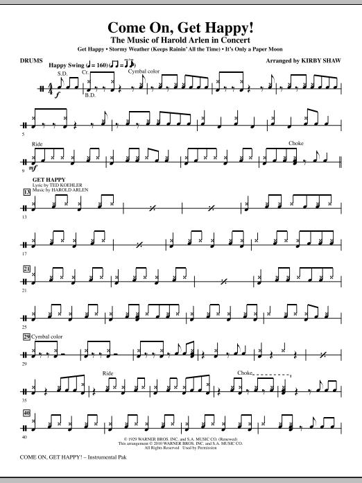 Come On, Get Happy! The Music Of Harold Arlen In Concert (Medley) - Drums (Choir Instrumental Pak)
