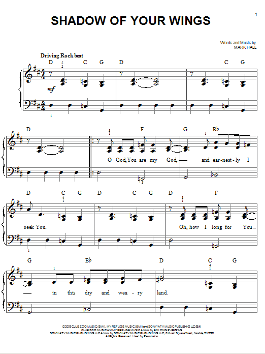 Shadow Of Your Wings Sheet Music