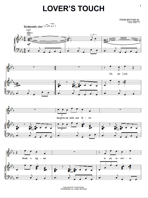 Lover's Touch (Piano, Vocal & Guitar (Right-Hand Melody))