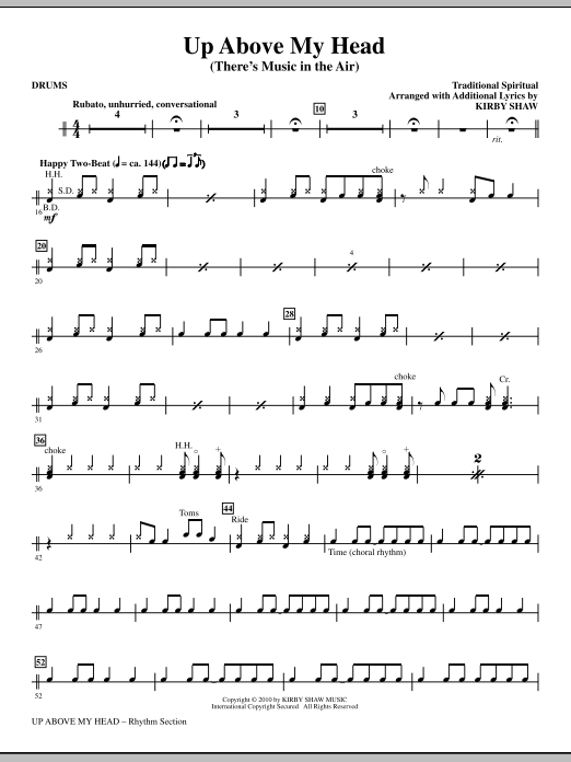 Up Above My Head (There\'s Music In The Air) - Drums | Sheet Music Direct