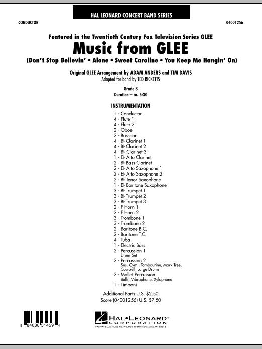 Music from Glee - Full Score (Concert Band)