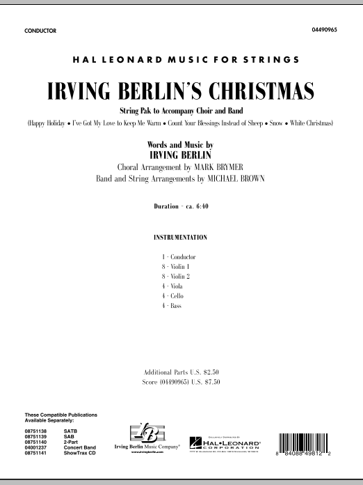 page one of Irving Berlin's Christmas (Medley) - Full ScoreASALTTEXT