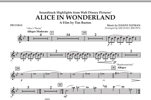Alice In Wonderland, Soundtrack Highlights - Piccolo (Concert Band)