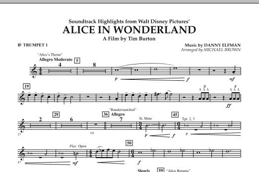 Alice In Wonderland, Soundtrack Highlights - Bb Trumpet 1 (Concert Band)
