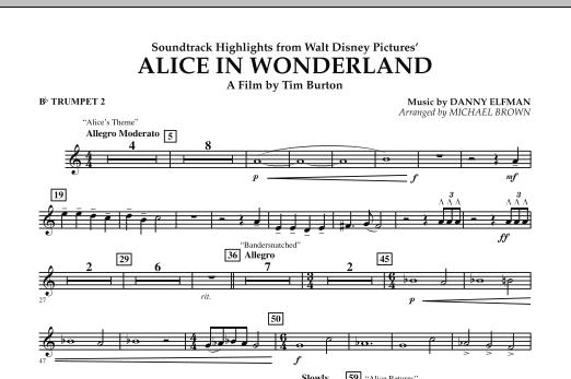 Alice In Wonderland, Soundtrack Highlights - Bb Trumpet 2 (Concert Band)