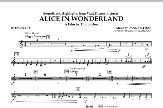 Alice In Wonderland, Soundtrack Highlights - Bb Trumpet 3 (Concert Band)