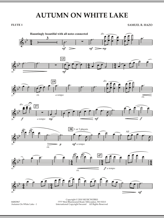 Autumn On White Lake - Flute 1 (Concert Band)