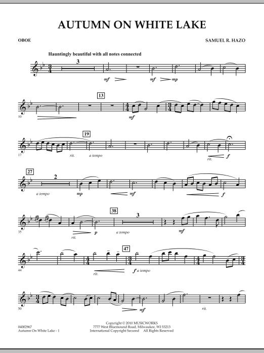 Autumn On White Lake - Oboe (Concert Band)
