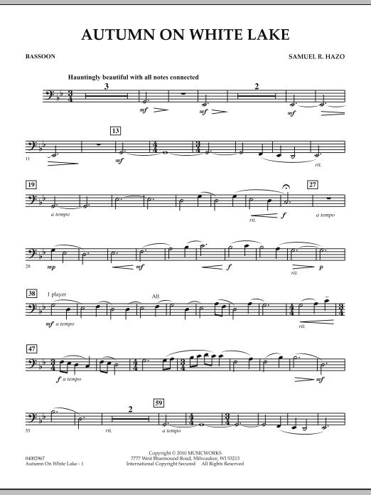 Autumn On White Lake - Bassoon (Concert Band)