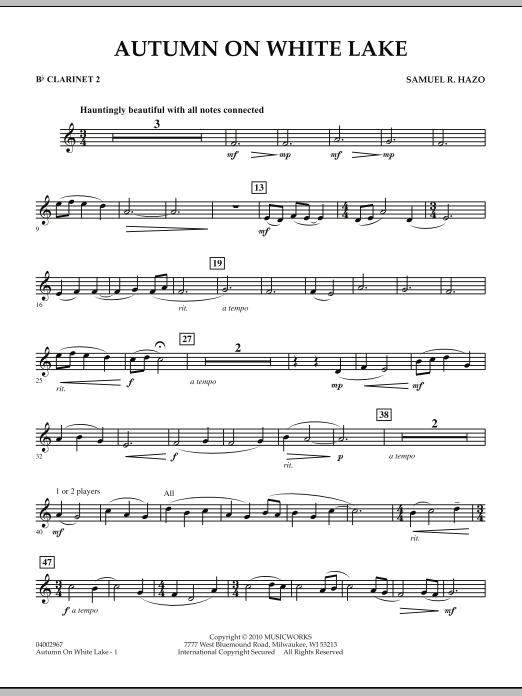 Autumn On White Lake - Bb Clarinet 2 (Concert Band)