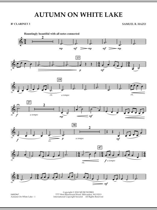 Autumn On White Lake - Bb Clarinet 3 (Concert Band)