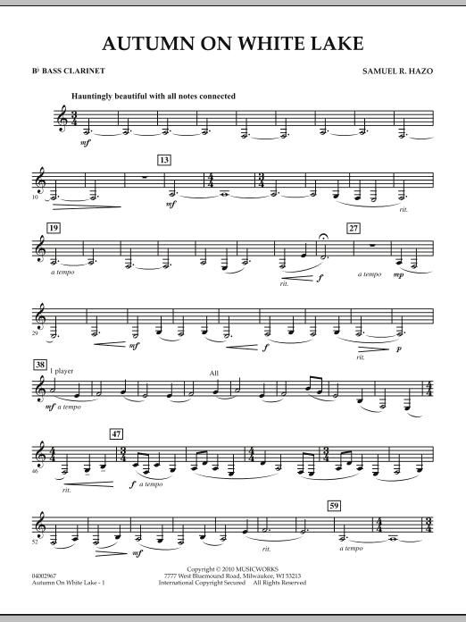 Autumn On White Lake - Bb Bass Clarinet (Concert Band)