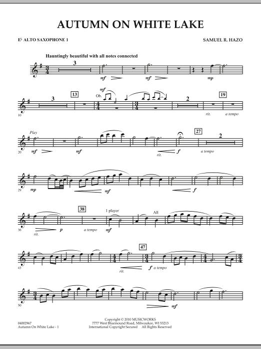 Autumn On White Lake - Eb Alto Saxophone 1 (Concert Band)