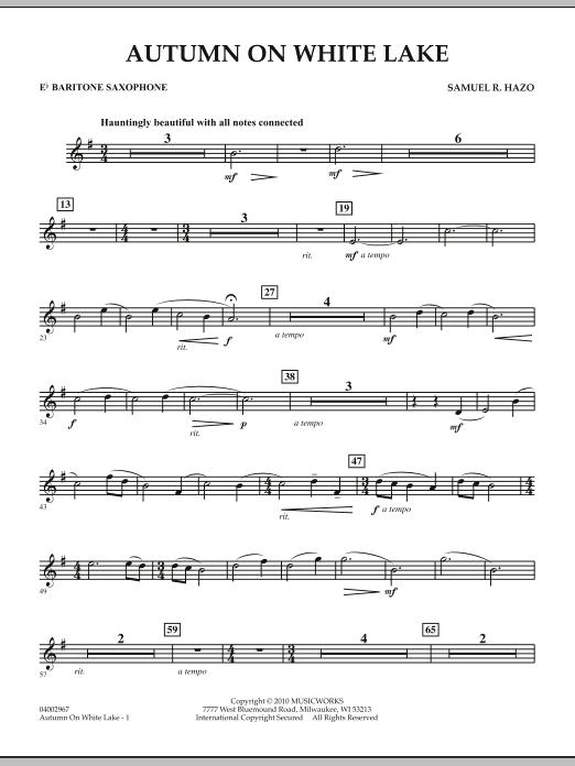Autumn On White Lake - Eb Baritone Saxophone (Concert Band)