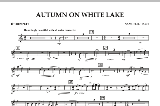 Autumn On White Lake - Bb Trumpet 1 (Concert Band)