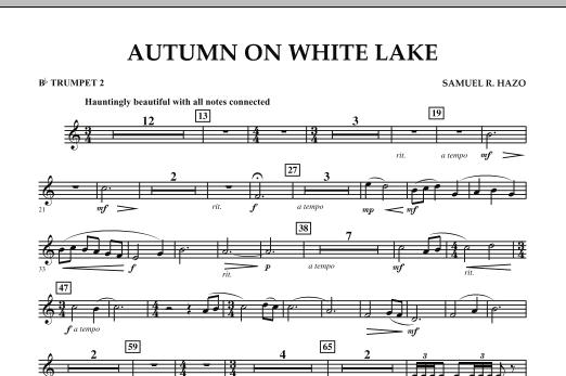 Autumn On White Lake - Bb Trumpet 2 (Concert Band)