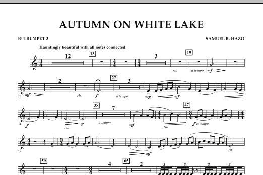 Autumn On White Lake - Bb Trumpet 3 (Concert Band)