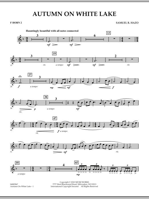 Autumn On White Lake - F Horn 2 (Concert Band)