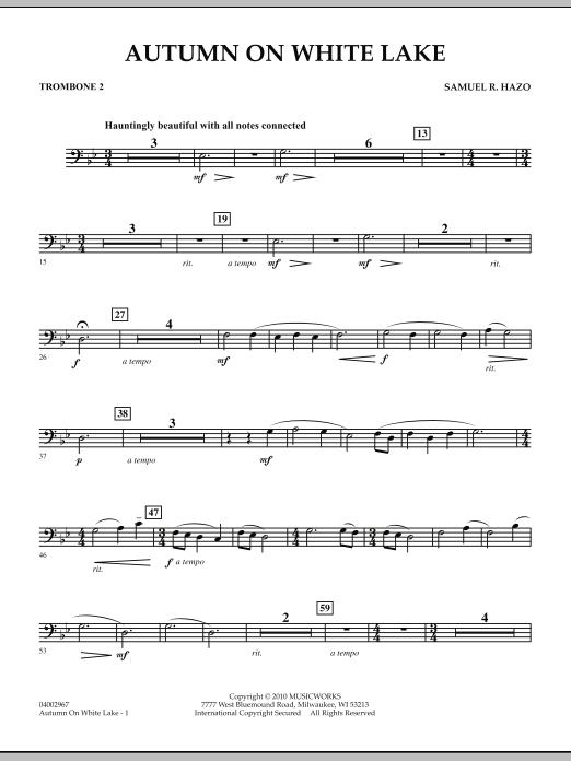 Autumn On White Lake - Trombone 2 (Concert Band)