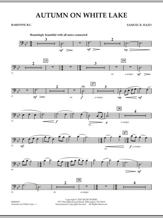 Autumn On White Lake - Baritone B.C. (Concert Band)