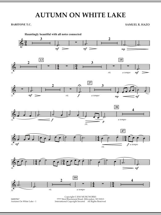 Autumn On White Lake - Baritone T.C. (Concert Band)