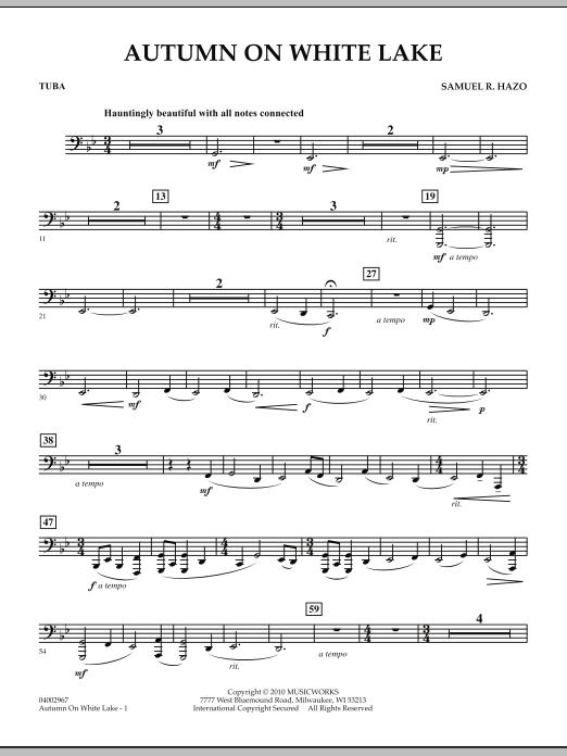 Autumn On White Lake - Tuba (Concert Band)