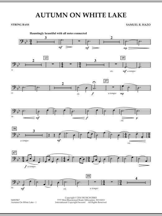 Autumn On White Lake - String Bass (Concert Band)