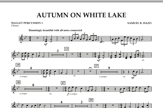 Autumn On White Lake - Mallet Percussion 1 (Concert Band)