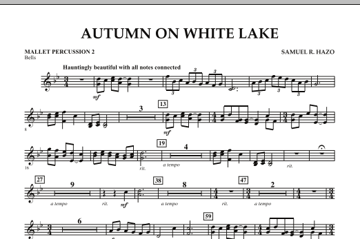 Autumn On White Lake - Mallet Percussion 2 (Concert Band)