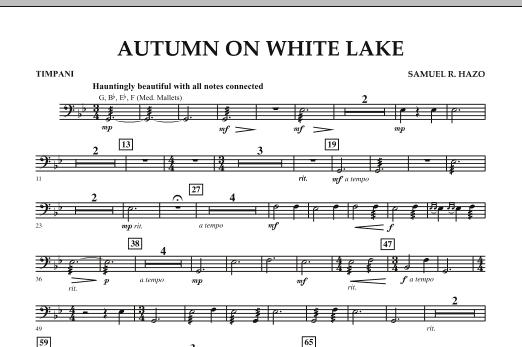 Autumn On White Lake - Timpani (Concert Band)