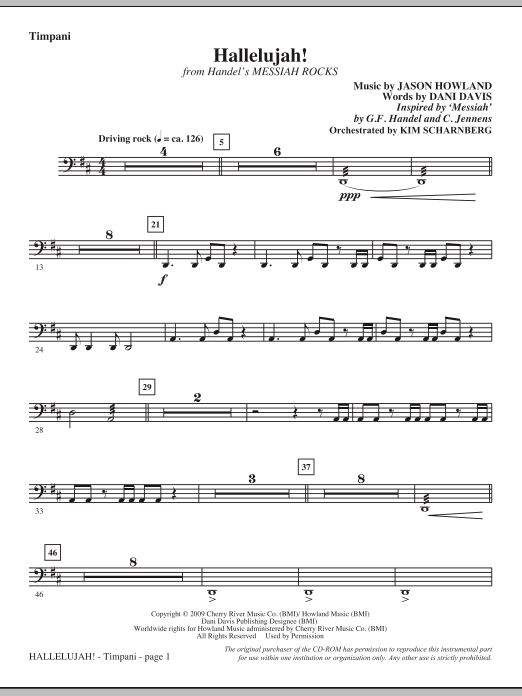 Hallelujah! (from Messiah Rocks) - Timpani Sheet Music