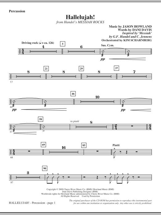 Hallelujah! (from Messiah Rocks) - Percussion (Choir Instrumental Pak)