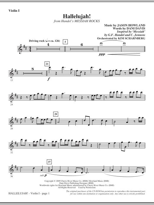 Hallelujah! (from Messiah Rocks) - Violin 1 (Choir Instrumental Pak)