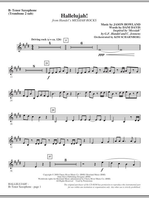 Hallelujah! (from Messiah Rocks) - Tenor Saxophone (Tromb. 2 sub) (Choir Instrumental Pak)