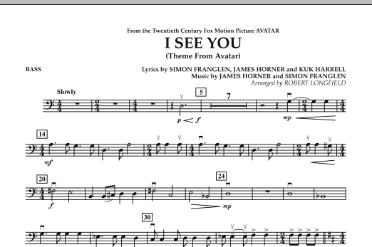 I See You (Theme from Avatar) - Bass (Orchestra)