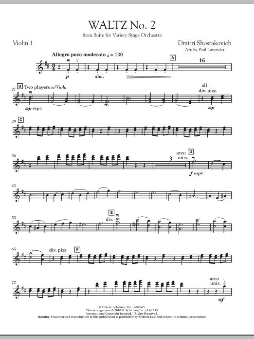 Waltz No. 2 - Violin 1 (Orchestra)