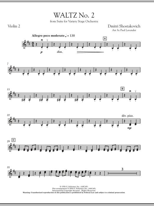 Waltz No. 2 - Violin 2 (Orchestra)