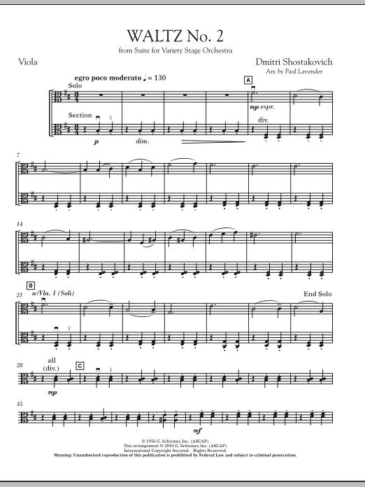 Waltz No. 2 - Viola (Orchestra)