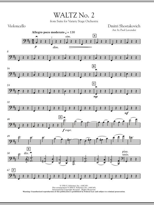 Waltz No. 2 - Cello (Orchestra)