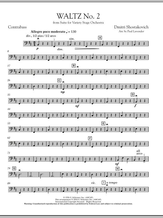 Waltz No. 2 - Bass (Orchestra)