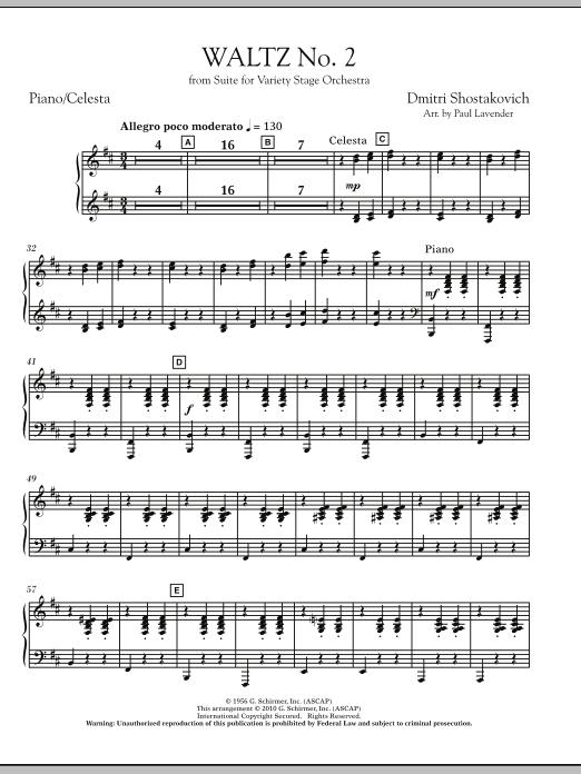 Waltz No. 2 - Piano/Celeste (Orchestra)
